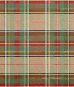 Our top choice for away room: Ralph Lauren Brimfield Cotton Plaid Antique Fabric - $57.20 | onlinefabricstore.net