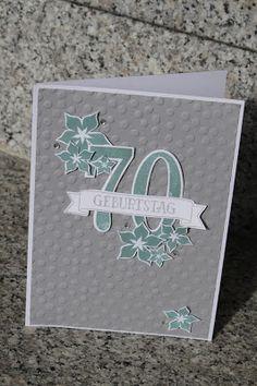 Ich habe eine Karte zum 70. Geburtstag für einen Bekannten gebraucht. Der ist ziemlich gut unterwegs und ich hab lange überlebt, wie di... Stampin up large numbers