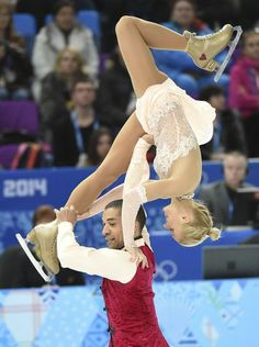 Aliona Savchenko and Robin Szolkowy of Germany win bronze medal the pairs free skate program.