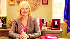 Leslie Knope: Waffle lover, feminist icon, word wizard and all-round amazing person. Parks And Recreation Gifs, Parks N Rec, Type A Type B, Feminist Icons, Leslie Knope, Michael Scott, Amy Poehler, Verse, Happy Thoughts