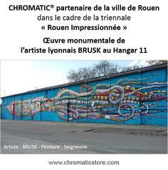 """CHROMATIC, partenaire de la ville de Rouen dans le cadre de la triennale """"Rouen Impressionnée"""". www;chromaticstore.com"""