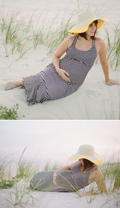 Beach maternity shoot