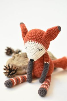 It`s a fox! Amigurumi design by lilleliis