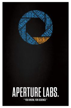 Aperture Science Labs. Word Cloud Poster by BlueBoxesEtc on Etsy