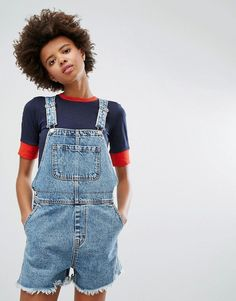 Buy Navy Monki Basic jumpsuit for woman at best price. Compare Jumpsuits prices from online stores like Asos - Wossel Global Denim Dungarees, Denim Jumpsuit, Bodycon Jumpsuit, Printed Skinny Jeans, Denim Skinny Jeans, Overalls Fashion, Fashion Jumpsuits, Jumpsuit Pattern, Latest Fashion Clothes