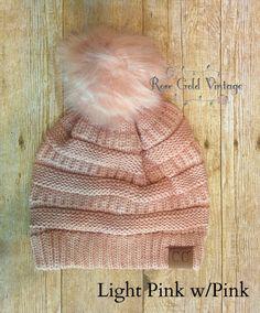 fee8b26d714 Fur Pom Pom CC Beanie Hats