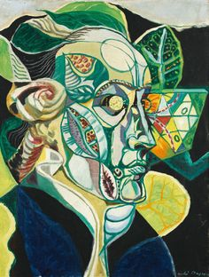André Masson - Portrait of Goethe (1940)