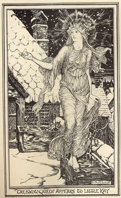 """iColor """"Nostalgia, Vintage, Old Fashioned & all That Jazz"""" ~ By H.J. Ford ( Henry Justice Ford 1860-1940)  From the story """" The Snow-Queen """"  These are from The Pink Fairy Book , published in 1897 , though these pics are from the 1901 re-issue ."""