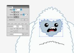 How To Create a Cool Vector Yeti Character in Illustrator #tutorial #illustrator