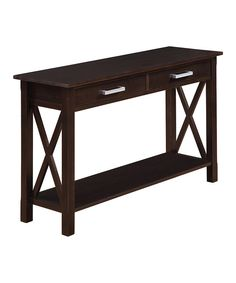 Look at this Walnut Brown Kitchener Console Table on #zulily today!