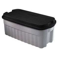 Rubbermaid 54 gal. 42-1/2 in. x 21-1/2 in. x 18-3/5 in. Hi-Top Storage Tote-FG3A05H2MICBL - The Home Depot