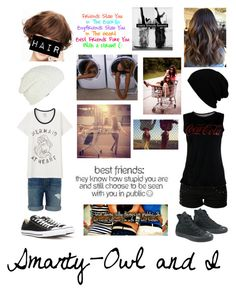 """""""Smarty-Owl and I read D"""" by foxykitty ❤ liked on Polyvore featuring even&odd, Converse, RVCA, J Brand, Uniqlo and Wigs2You"""