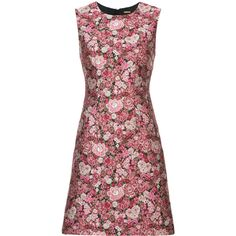 Adam Lippes floral pattern sheath dress (€1.255) ❤ liked on Polyvore featuring dresses, pink, flower print dress, botanical dress, pink floral print dress, floral design dresses and adam