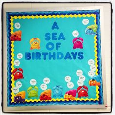 30 Best Ideas For Birthday Board Classroom Ocean Infant Classroom, New Classroom, Kindergarten Classroom, Classroom Themes, Ocean Themed Classroom, Toddler Classroom Decorations, Classroom Wall Decor, Daycare Curriculum, Preschool Bulletin