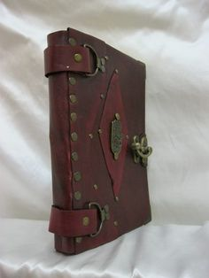Handmade leather bound authentic blank journal / by PapyrusCrafts