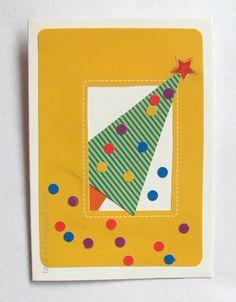 Новогодние открытки своими руками. Часть 1. Елочки :: Это интересно!