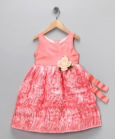 This Pink Rose Dress - Infant, Toddler & Girls by C'est Chouette is perfect! #zulilyfinds