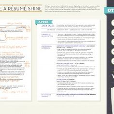 How To Make A Résumé Shine | Visual.ly  Entry Level Chemist Resume