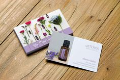 doTerra Serenity business card design. There's an oil for that! Personalized for Wellness Advocates. #business #networking