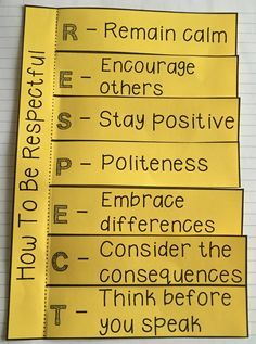 Respect Small Group- 6 Sessions group to teach students about the importance of being respectful, as well as practical ways to do so. Each session includes an objective, discussion points and an activity. Also includes a 6 item survey to measure growth and two bonus activities.