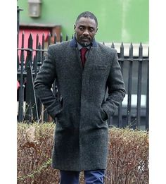 97250044fbb DCI John Luther Coat - Idris Elba Woolen Coat