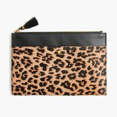 9308a843e8 Large pouch in calf hair and leather   Women clutches   pouches