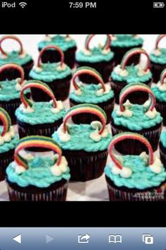 Rainbow cupcakes for birthdays and special occasions