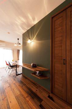 Woodとグリーンの壁