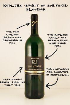 "Kupljen ""Spirit of Svetinje"" White Wine Blend, Slovenia. Difficult to pronounce, easy to drink! #wine"
