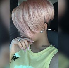 rose gold pixie