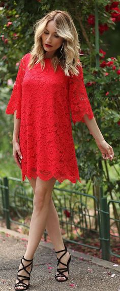 Red Lace Little Dress