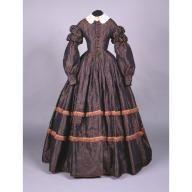 Day dress, ca. 1860; CHS 1950.16.25
