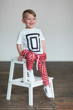 Lot801 athleisure baby kids harem leggings blood orange. Joggers for toddlers. Love this look.