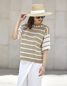Book Woman Concept 3 Spring / Summer | 13: Woman Sweater | Camel / White