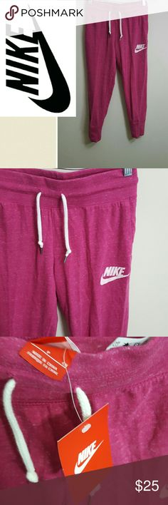 New! Nike ceopped johger pants! Small New with tags! Nike jogger cropped pants.  These have pockets too!  Bundle using the bundle feature and save! Nike Pants
