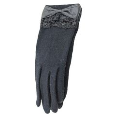 Black Ladies Bow Elegant Warm Winter Lace Gloves (33 BRL) ❤ liked on Polyvore featuring accessories, gloves, pinkqueen, black, bow glove and lace gloves