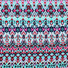 Navy Pink Turquoise Small Diamonds Slub Cotton Jersey Blend Knit Fabric - Love this print!  Gorgeous colours of pink, navy blue, turquoise blue, red smaller scale repeating diamonds design on a white slub cotton jersey rayon blend knit.  Slub makes a subtle texture in the fabric.  Fabric is light weight, soft, with a nice stretch and drape.  Largest diamond measures 5cm, pattern repeat is 28cm (see image for scale).  ::  £7.96