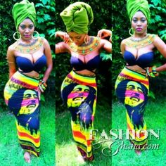 This Bob Marley Skirt is everything