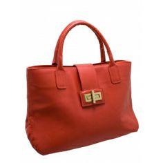 Bolsa Donna Guerriera Vermelha Modelo Gabrielle. Metais dourados. Alça de mão em couro vermelho, alça tiracolo ajustável e removível em cour...