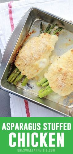 Take advantage of in season produce with this AMAZING Asparagus Stuffed chicken Recipe! Tender, juicy, and packed with cheese - this is a great dinner recipe! dinner meat Asparagus Stuffed Chicken Recipe - One Sweet Appetite Asparagus Rolls, Baked Asparagus, Chicken Asparagus, Asparagus Recipe, Great Dinner Recipes, Best Healthy Dinner Recipes, Valentines Dinner Recipes, Dinner Ideas, Seafood Dinner