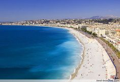 Imagine lying on this gorgeous beach in Nice, France via Beaches In The World, Places Around The World, Oh The Places You'll Go, Places To Travel, Places To Visit, Nice France, South Of France, Saint Tropez, Corsica