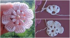It is very important that in this period our creative and gorgeous flowers beautifies our days Crochet Mask, Crochet Quilt, Easy Crochet, Rose Crafts, Flower Crafts, Crochet Flower Patterns, Crochet Flowers, Daisy Flowers, Crochet Waffle Stitch