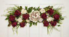 Rose and Peony Floral Swag Door Swag Floral Wall by Floralwoods, $40.00