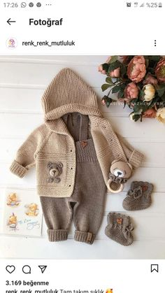 Ladies Cardigan Knitting Patterns, Knitted Baby Cardigan, Knitted Baby Clothes, Baby Knitting Patterns, Free Knitting, Unisex Baby, Crochet For Kids, Cardigans For Women, Baby Dress
