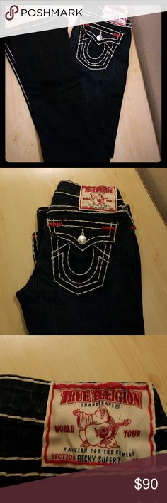 TRUE RELIGION BOOTCUT JEANS Pretty much like new, I haven't worn it. Its been sitting in my clothes for quite some times now. So decide to sell it, since I don't think I'll be wearing it. Give me an offer =] True Religion Jeans Boot Cut