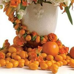 Lovely display with oranges