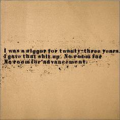 Glenn Ligon - No Room (Gold) #42 - 2007   no room for advancement   nigger   the n-word