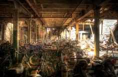 Abandoned motorcycles again - have to figure out how he processed these