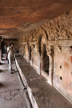 Art from Past    The caves at Khandagiri -- near Bhubaneswar, Orissa -- are a showpiece of rock art culture in ancient India