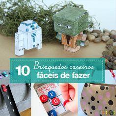 Dicas de brinquedos caseiros fáceis de fazer com as crianças. Eles divertem e estimulam a criatividade sem você precisar gastar dinheiro